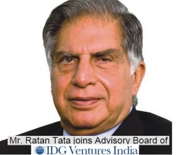 Ratan Tata Joins IDG Ventures India As Senior Advisor