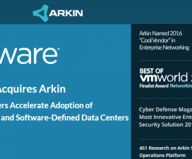 VMware Acquired Software Defined Data Center Security & Operations Firm Arkin Net