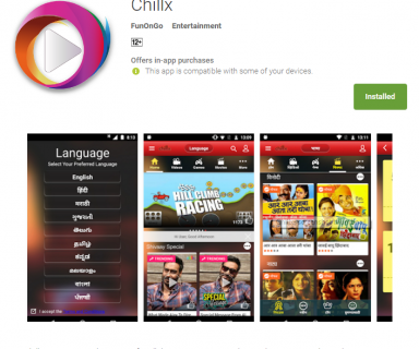 Reliance Big Entertainment Launched Over The Top VoD Mobile Application - Chillx