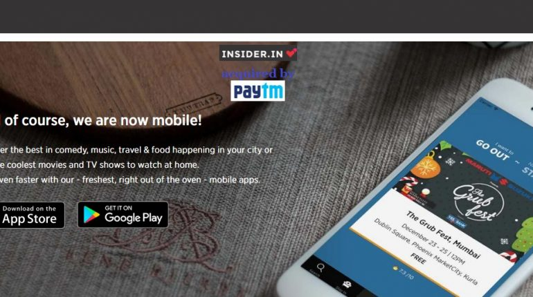 PayTM Acquired Majority Stakes Of Online Ticketing Platform Insiderdotin