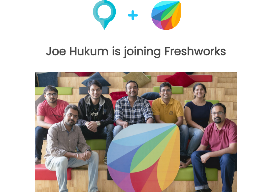 SaaS Maker Freshworks Acquired Chat Bot Automation Startup Joe Hukum